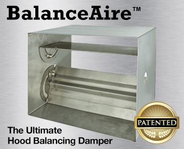 BalanceAire Commerical Kitchen Hood Balancing Damper