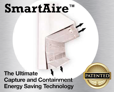 SmartAire Capture and Containment, energy saving commercial kitchen hood technology