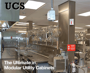 Utility Cabinet System for Commercial Kitchen Hoods