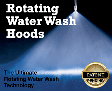 Rotating Water Wash Hoods