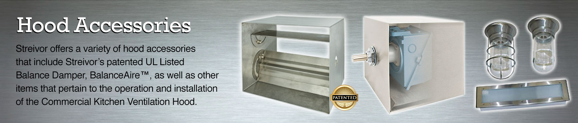 Commercial Kitchen Ventilation Hood Accessories