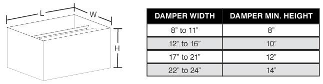 BalanceAire Balance Damper Dimensions