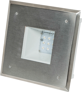 Canopy lights streivor air systems ckv led recessed square lighting fixture mozeypictures Image collections