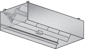 (ICBD) Island Canopy Commercial Kitchen Ventilation Hood