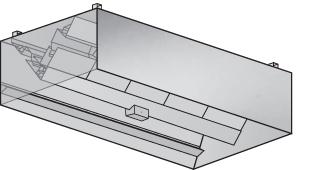 ISPC Island Kitchen Hood for Pizza Conveyor Oven