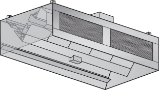 ICFS-Island Commercial Kitchen Hood with Front Air Supply