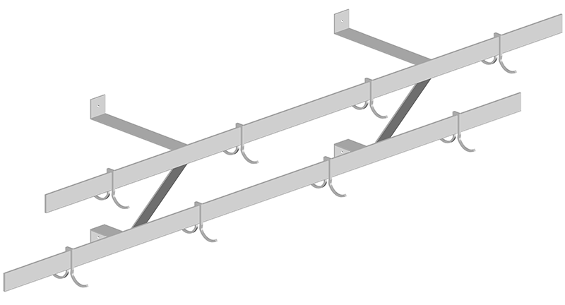 Stainless Steel Double Bar Potrack