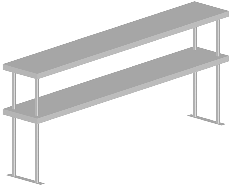 Double Tier Table Shelves