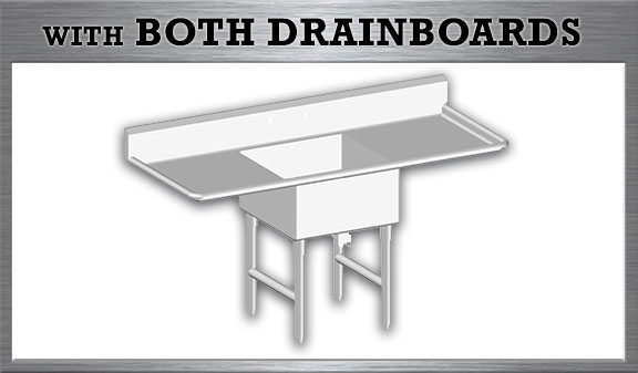 One Tub Sink with Both Drainboards