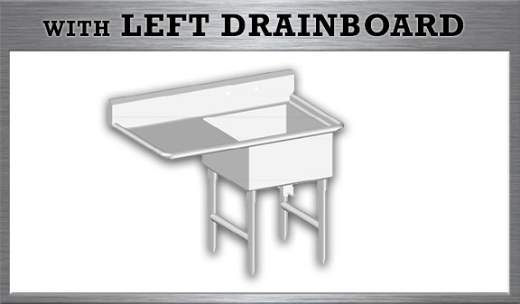 One Tub Sink with Left Drainboard