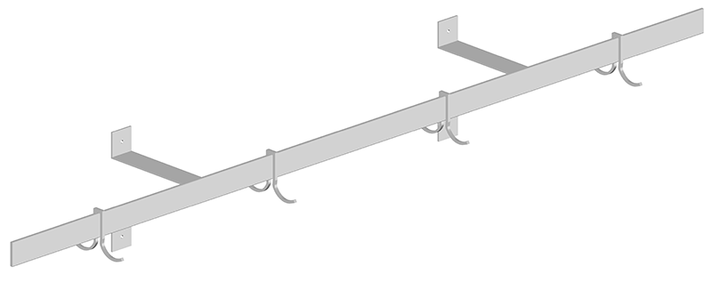 Stainless Steel Single Bar Potrack