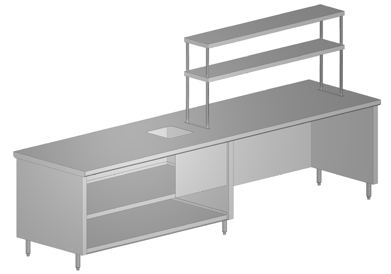 Stainless Steel Cabinet with Shelving