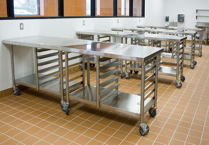 Work Tables Streivor Air Systems - 8 ft stainless steel work table