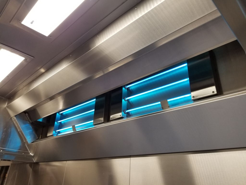 UV Lights on in Commercial Kitchen Hood